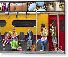 Lonely Travelers - Crop Of Original - To See Complete Artwork Click View All Acrylic Print by Anne Klar