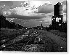 Lonely Water Tower Acrylic Print by Randall  Cogle