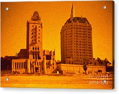 Long Beach Acrylic Print by Gregory Dyer