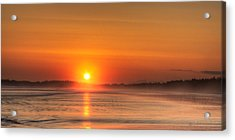 Long Beach Sunset Acrylic Print by Matt Dobson