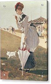 Long Branch Acrylic Print by Winslow Homer
