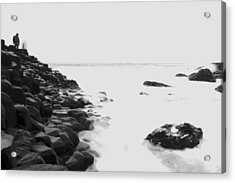 Long Exposure At The Giants Causeway Acrylic Print by Christopher Kulfan