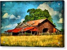 Long Road Barn Acrylic Print by Lynne Jenkins