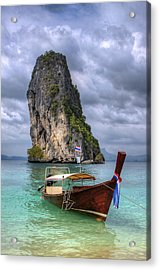 Long Tail Boat Acrylic Print by Anik Messier