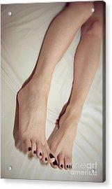 Long Toe Lover Acrylic Print by Tos Photos