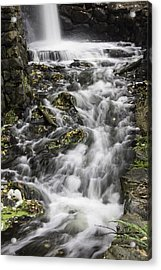Acrylic Print featuring the photograph Longfellow Grist Mill Waterfall by Betty Denise