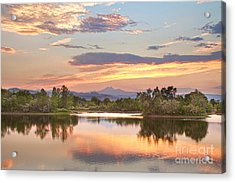 Longs Peak Evening Sunset View Acrylic Print by James BO  Insogna