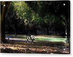 Lonley Park Bench Acrylic Print