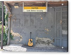 Look Before Crossing Acrylic Print by Bill Cannon