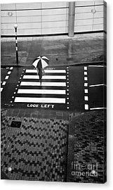 Look Left Acrylic Print by Linda Wisdom