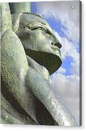Look To The Sky - R Acrylic Print by Mike McGlothlen