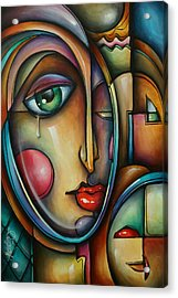 Look Two Acrylic Print by Michael Lang