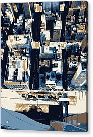 Looking Down Color 6 Acrylic Print by Scott Kelley