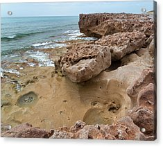 Looking Down From Above Blowing Rocks Preserve Acrylic Print by Michelle Wiarda