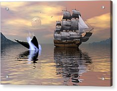 Looking For Moby Dick Acrylic Print by Claude McCoy