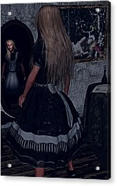 Looking Glass Alice Acrylic Print by Maynard Ellis