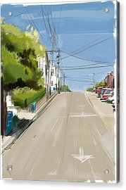 Looking Up Dolores Street Acrylic Print by Russell Pierce