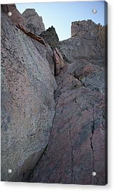 Looking Up The Ledges On Longs Peak Acrylic Print by Cynthia Cox Cottam
