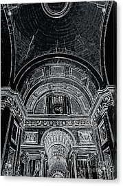 Looking Up. Vatican. Black Acrylic Print by Tanya  Searcy