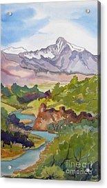 Looking West Hot Creek Acrylic Print
