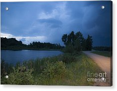 Looming Alberta Storm Acrylic Print by Darcy Michaelchuk