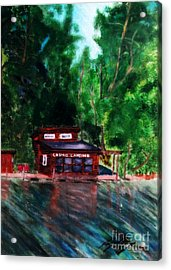 Acrylic Print featuring the painting Loomis Landing by Ayasha Loya