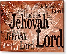 Lord Jehovah Acrylic Print by Angelina Vick