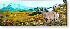 Lord Over The Mountains Acrylic Print by Bobbylee Farrier