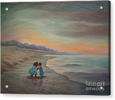 Acrylic Print featuring the painting Loren And Jewel by Gretchen Allen