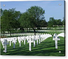 Lorraine Wwii American Cemetery St Avold France Acrylic Print