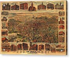 Los Angeles California 1891 Acrylic Print by Donna Leach