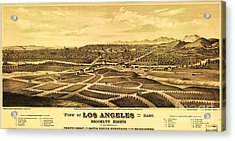 Los Angeles From The East Acrylic Print by Pg Reproductions