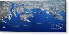 Los Angeles Seaport Panorama Acrylic Print