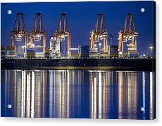 Los Angelos Prot And Reflections Acrylic Print by Mike Raabe