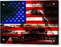 Lost In America Acrylic Print by Wingsdomain Art and Photography