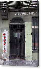 Lost In Urban America - Laundromat - Tenderloin District - San Francisco California - 5d19347 Acrylic Print by Wingsdomain Art and Photography