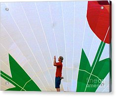 Lost Infront Of The Balloon Acrylic Print by Mark Dodd