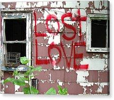 Lost Love Acrylic Print by Todd Sherlock