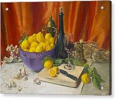 Lotta Lemons Acrylic Print
