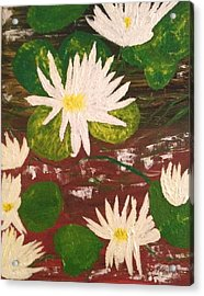 Lotus Flowers Acrylic Print by Pretchill Smith