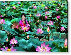 Lotus Season Acrylic Print by Dung Ma