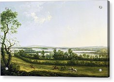 Lough Erne From Knock Ninney - With Bellisle In The Distance Acrylic Print by Thomas Roberts