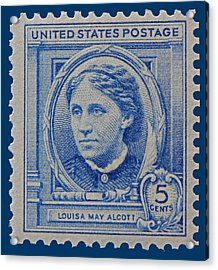 Louisa May Alcott Postage Stamp  Acrylic Print