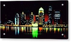Louisville In Black Light Acrylic Print by Thomas Kolendra