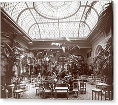Lounge At The Plaza Hotel Acrylic Print by Henry Janeway Hardenbergh