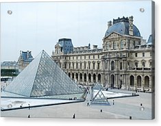 Louvre In Paris Acrylic Print by David Taylor