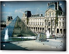 Acrylic Print featuring the photograph Louvre by Kathy Bassett