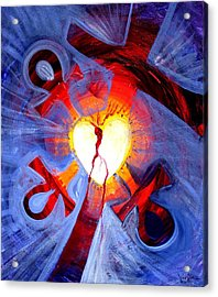 Love - In Three ... For All Acrylic Print by J Vincent Scarpace