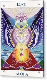 Love  Aloha Acrylic Print by Tulsi Devi Art