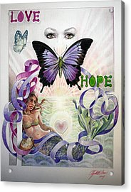 Love And Hope Acrylic Print by Elizabeth Shafer